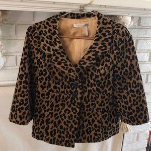 Women's velvet leopard print jacket